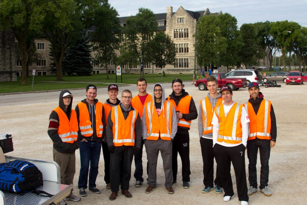 Members of Winnipeg's General Strike ultimate team were the run marshals, keeping everyone on track. Thanks guys.