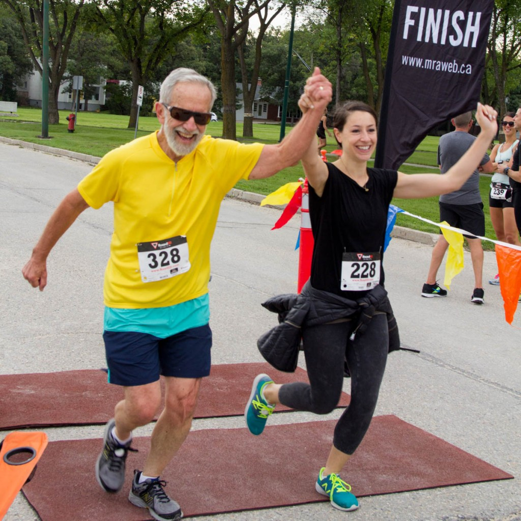 A strong finish at the 2015 Run the Awesome Twosome for Haiti